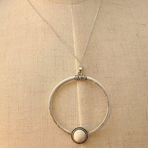 Sterling Silver Chain  Natural White  Turquois
